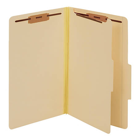 Pendaflex® Manila Pressboard Classification Folders, 1/5 Tab Cut, Legal Size, 60% Recycled, Manila, Box Of 10