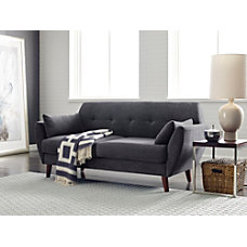 Serta Artesia Collection Loveseat Slate GrayChestnut