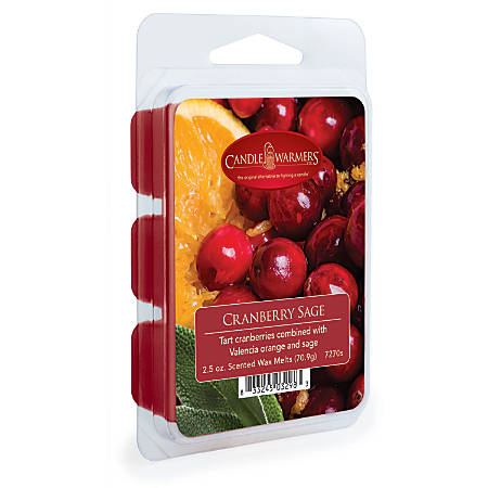 Candle Warmers Etc Wax Melts, Cranberry Sage, 2.5 Oz, Case Of 4 Packs