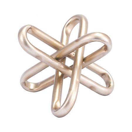"Zuo Modern Clips Figurine, 4 15/16""H x 5 15/16""W x 5 15/16""D, Gold"