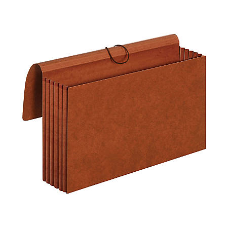 "Pendaflex® Redrope Standard Expansion Wallets, 5 1/4"" Expansion, Legal Size, 100% Recycled, Red, Pack Of 10 Wallets"
