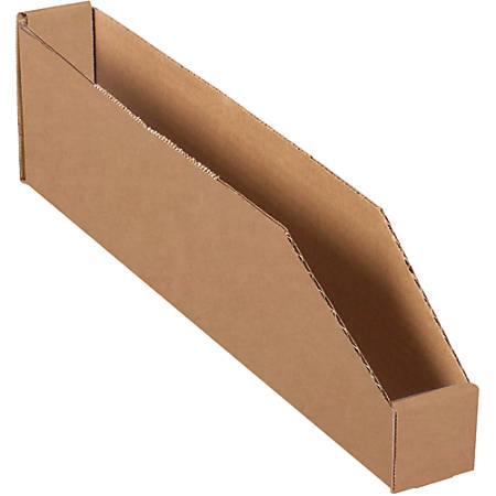 "Office Depot® Brand Open-Top Bin Boxes, 4 1/2""H x 18""W x 2""D, Kraft, Pack Of 50"