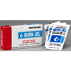 WaterJel® Burn Jel® First-Aid Gel Burn Treatment Packets, Box Of 6