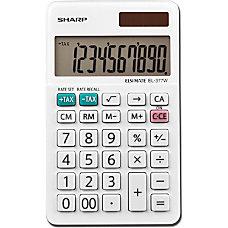 Sharp White Series Handheld Calculator EL