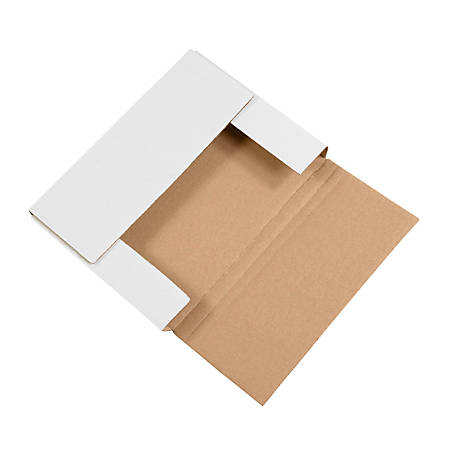 """Office Depot® Brand Easy-Fold Mailers, 11 1/8""""L x 8 5/8""""W x 1""""H, White, Pack Of 50"""