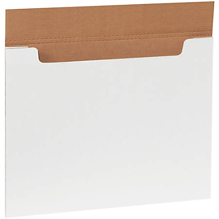 """Office Depot® Brand White Jumbo Fold-Over Mailers, 20"""" x 16"""" x 1/4"""", Pack Of 20"""