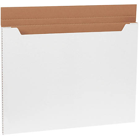 "Office Depot® Brand White Jumbo Fold-Over Mailers, 30"" x 22 1/2"" x 1"", Pack Of 20"