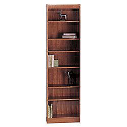 Safco® WorkSpace® Wood Veneer Baby Bookcase, 7 Shelves, Cherry
