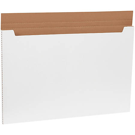 "Office Depot® Brand White Jumbo Fold-Over Mailers, 36"" x 24"" x 1"", Pack Of 20"