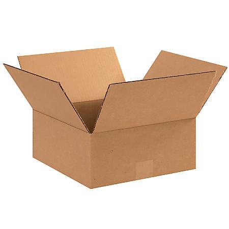 "Office Depot® Brand Flat Boxes, 12"" x 12"" x 5"", Kraft, Pack Of 25"