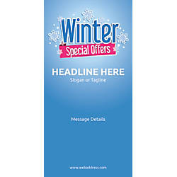 Custom Vertical Display Banner Winter Special
