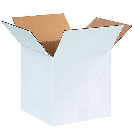 """Office Depot® Brand White Corrugated Cartons, 12"""" x 12"""" x 12"""", Pack Of 25"""