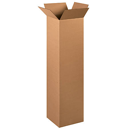 """Office Depot® Brand Tall Boxes, 12"""" x 12"""" x 48"""", Kraft, Pack Of 15"""