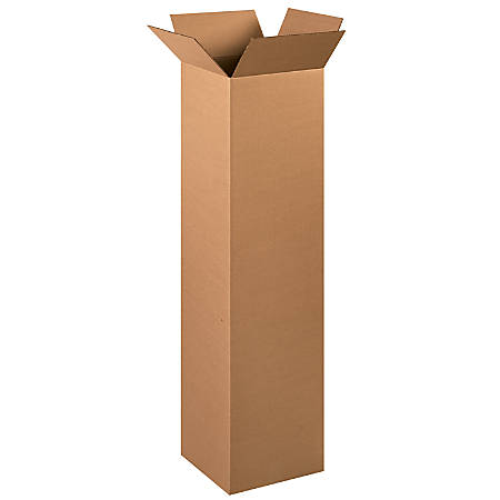 "Office Depot® Brand Tall Boxes, 12"" x 12"" x 48"", Kraft, Pack Of 15"