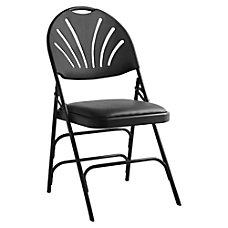 Samsonite XL Fanback Folding Chairs Vinyl