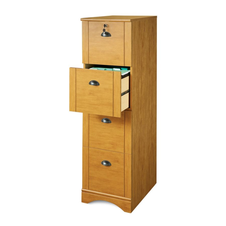 Realspace Dawson 4 Drawer Vertical File Cabinet 54 H x 15 12 W x 21 34 D Canyon Maple by Office Depot u0026 OfficeMax  sc 1 st  Office Depot & Realspace Dawson 4 Drawer Vertical File Cabinet 54 H x 15 12 W x 21 ...