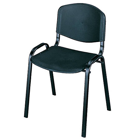 """Safco® Stack Chairs, 30 1/2""""H x 21 3/8""""W x 17 7/8""""D, Black, Set Of 4"""