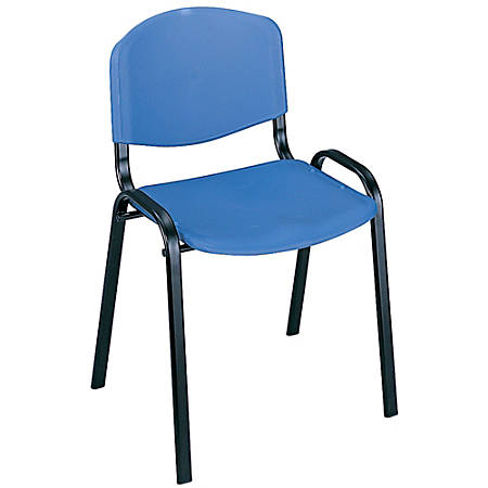 """Safco® Stack Chairs, 30 1/2""""H x 21 3/8""""W x 17 7/8""""D, Blue, Set Of 4"""