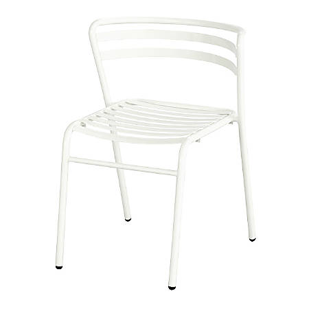 Safco® CoGo™ Indoor/Outdoor Chair, White, Set Of 2