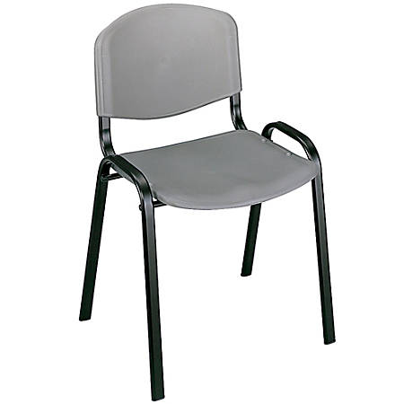"""Safco® Stack Chairs, 30 1/2""""H x 21 3/8""""W x 17 7/8""""D, Charcoal, Set Of 4"""