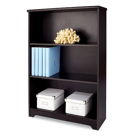 Reale Magellan Collection 3 Shelf Bookcase Espresso By Office Depot Officemax