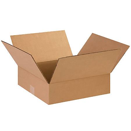 "Office Depot® Brand Flat Boxes, 14"" x 14"" x 4"", Kraft, Pack Of 25"