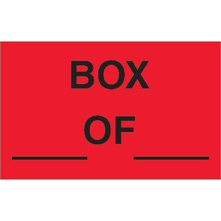 """Tape Logic® Preprinted Special Handling Labels, DL1158, Box Of, Rectangle, 1 1/4"""" x 2"""", Fluorescent Red, Roll Of 500"""