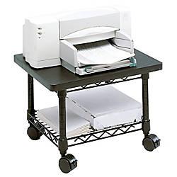 Safco Underdesk PrinterFax Stand Black