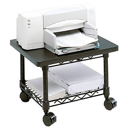 Safco Underdesk Printer Fax Stand Black