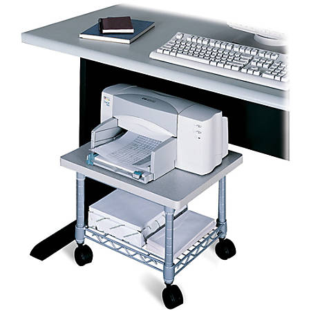 Safco® Underdesk Printer/Fax Stand, Gray