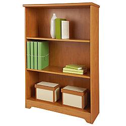 Realspace® Magellan Collection 3-Shelf Bookcase, Honey Maple