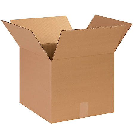 "Office Depot® Brand Corrugated Cartons, 14"" x 14"" x 12"", Kraft, Pack Of 25"