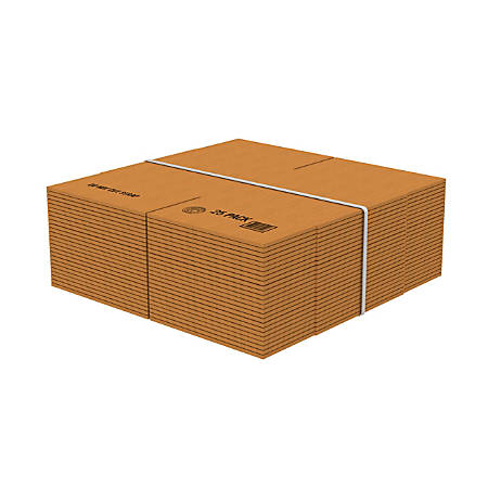 """Office Depot® Brand Corrugated Boxes, 14""""L x 14""""W x 14""""H, Kraft, Pack Of 25"""