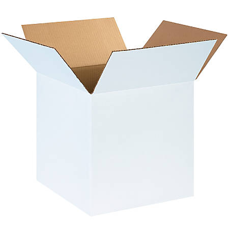 """Office Depot® Brand White Corrugated Cartons, 14"""" x 14"""" x 14"""", Pack Of 25"""