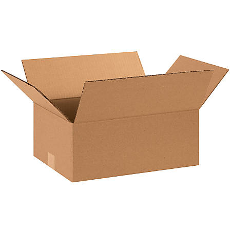 "Office Depot® Brand Corrugated Cartons, 15"" x 11"" x 6"", Kraft, Pack Of 25"