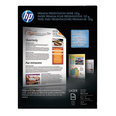 hp premium presentation laser paper 8 12 x 11 32 lb pack of 250