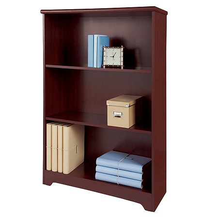 Realspace Magellan Collection 3 Shelf Bookcase Classic Cherry By Office Depot OfficeMax
