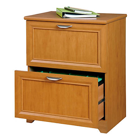 "Realspace® Magellan Collection 2-Drawer Lateral File Cabinet, 30""H x 23 1/2""W x 16 1/2""D, Honey Maple"
