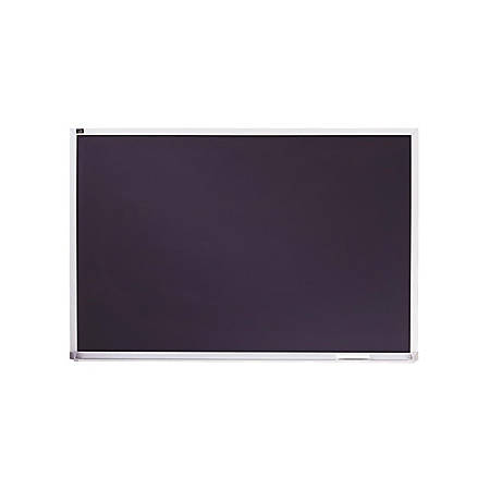 "Quartet® Porcelain Black Chalkboard, Magnetic, 2' x 3', Aluminum Frame - 24"" (2 ft) Width x 36"" (3 ft) Height - Black Porcelain Surface - Silver Aluminum Frame - Horizontal - 1 / Each"
