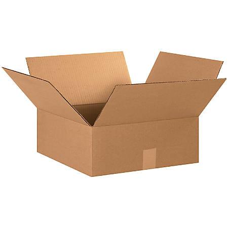 "Office Depot® Brand Flat Boxes, 15"" x 15"" x 6"", Kraft, Pack Of 25"