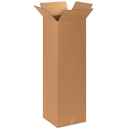 "Office Depot® Brand Tall Boxes, 15"" x 15"" x 48"", Kraft, Pack Of 10"