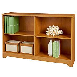 Realspace® Magellan Collection 2-Shelf Sofa Bookcase, Honey Maple