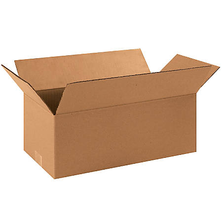 "Office Depot® Brand Long Boxes, 16""L x 8""H x 6""W, Kraft, Pack Of 25"