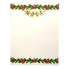 Gartner Studios Holiday Stationery Sheets Garland
