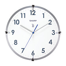 Sharp Atomic Round Wall Clock 11