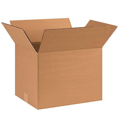 "Office Depot® Brand Corrugated Cartons, 16"" x 12"" x 12"", Kraft, Pack Of 25"