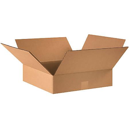 "Office Depot® Brand Flat Boxes, 16"" x 16"" x 4"", Kraft, Pack Of 25"