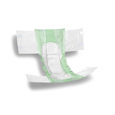 """FitRight Ultra Briefs, XX-Large, 60 - 69"""", Green, Bag Of 20"""