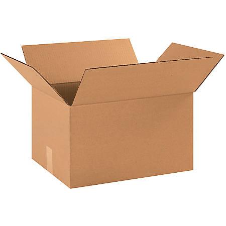 "Office Depot® Brand Corrugated Cartons, 16 1/4"" x 12 1/4"" x 9 5/16"", Kraft, Pack Of 25"