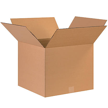"Office Depot® Brand Corrugated Cartons, 17"" x 17"" x 14"", Kraft, Pack Of 25"